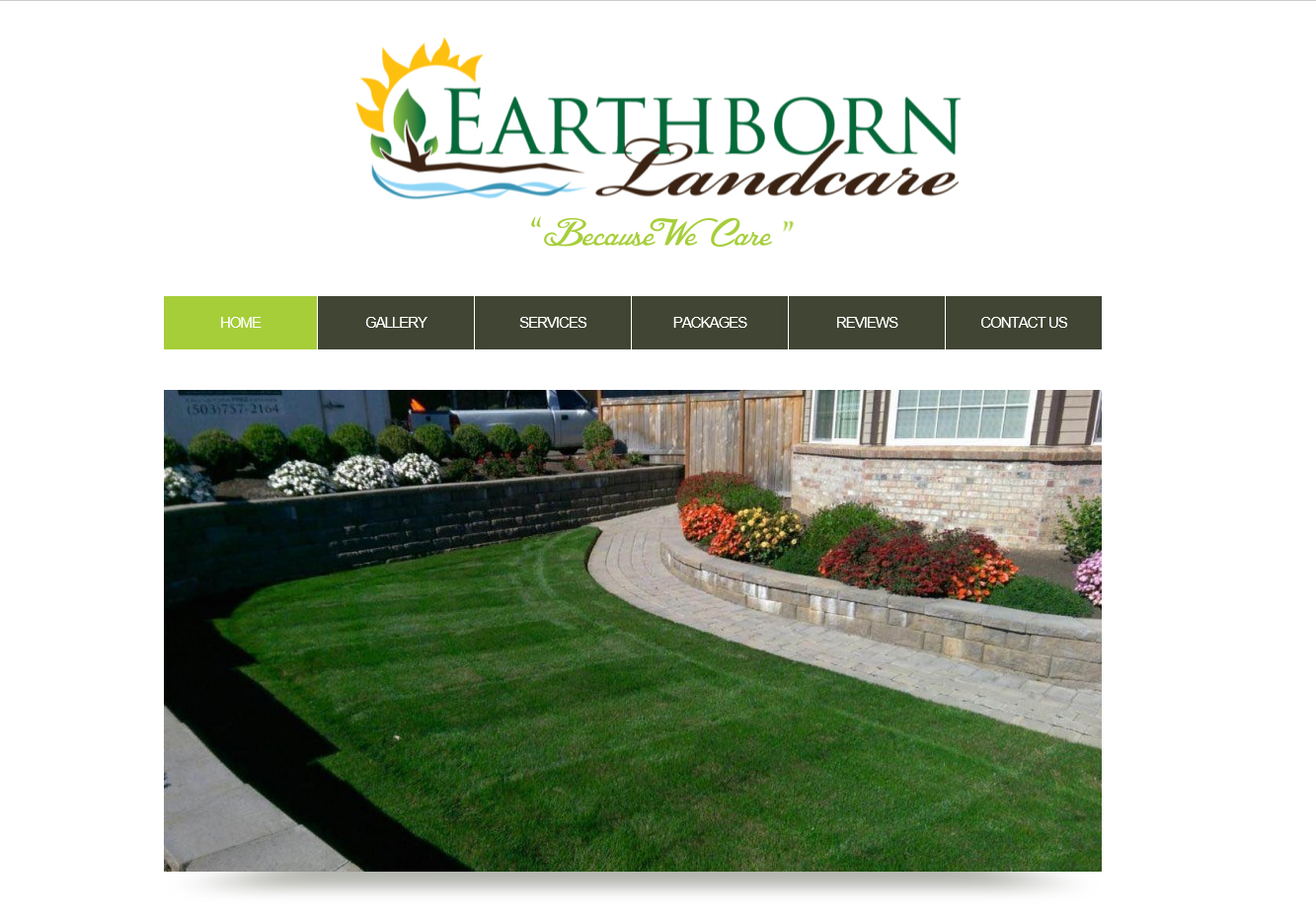 Landscape Maintenance Website Design Before And After Doug Williams